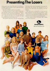 insanely sexist vintage airline ad