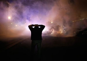 Slate Magazine has a great collection of photos from the protests here:   http:// slate.me/1phCvSR